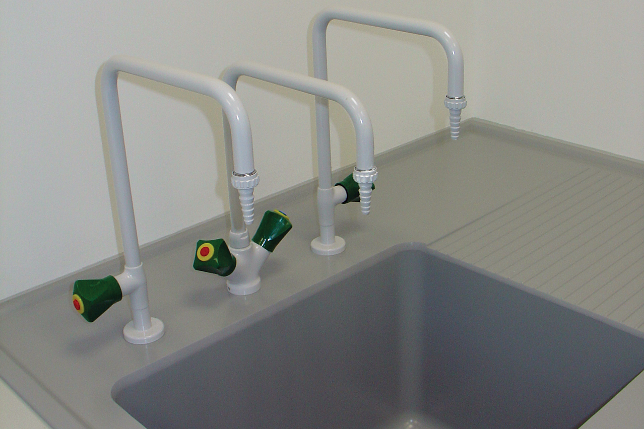 W.E. Marson educational sinks and taps