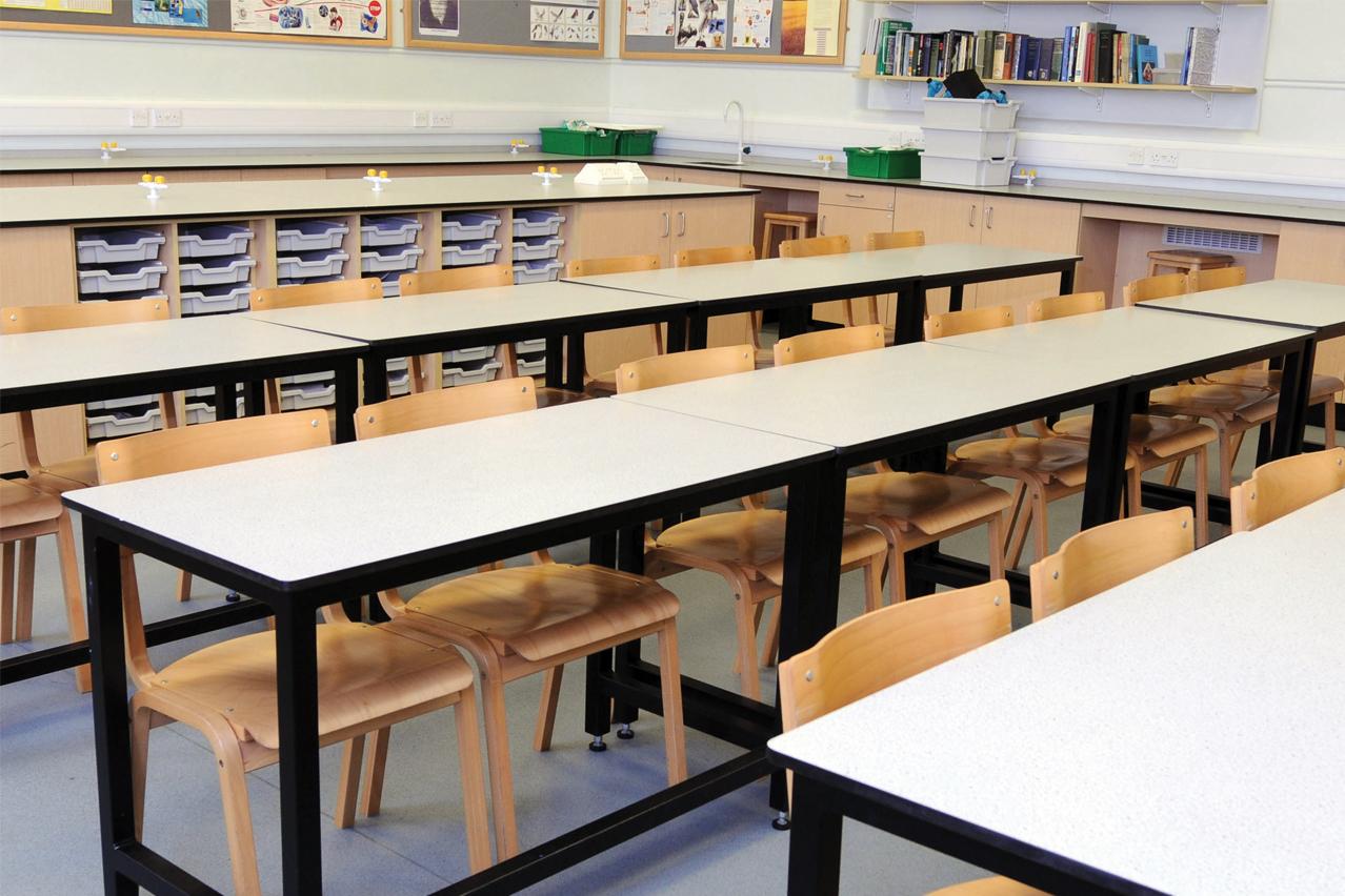 W.E. Marson school laboratory furniture