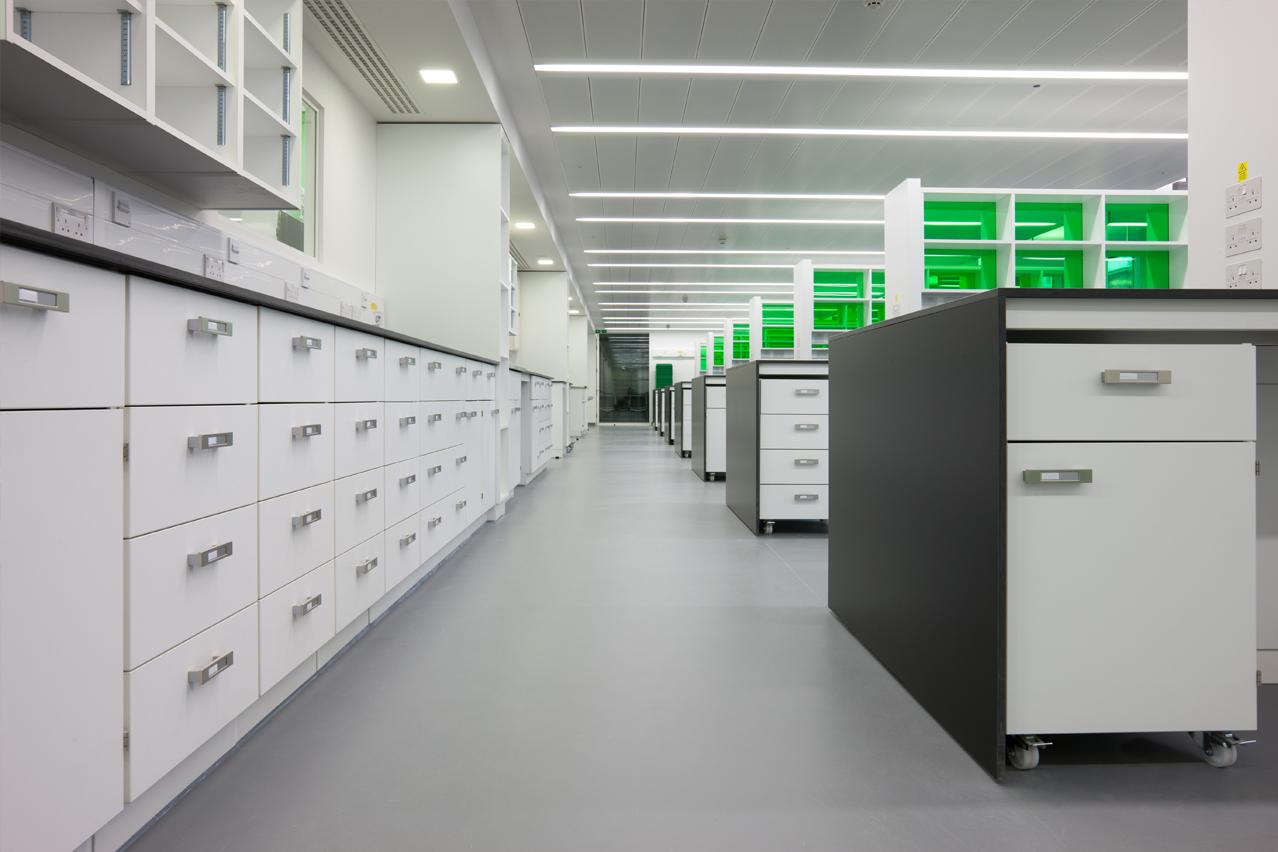 W.E. Marson bespoke fixed laboratory furniture