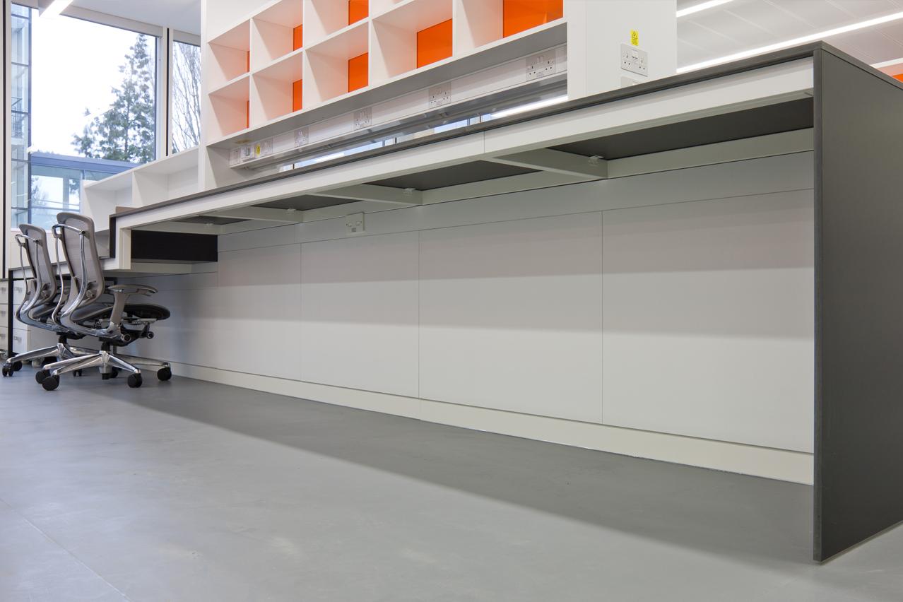 W.E. Marson fixed laboratory furniture