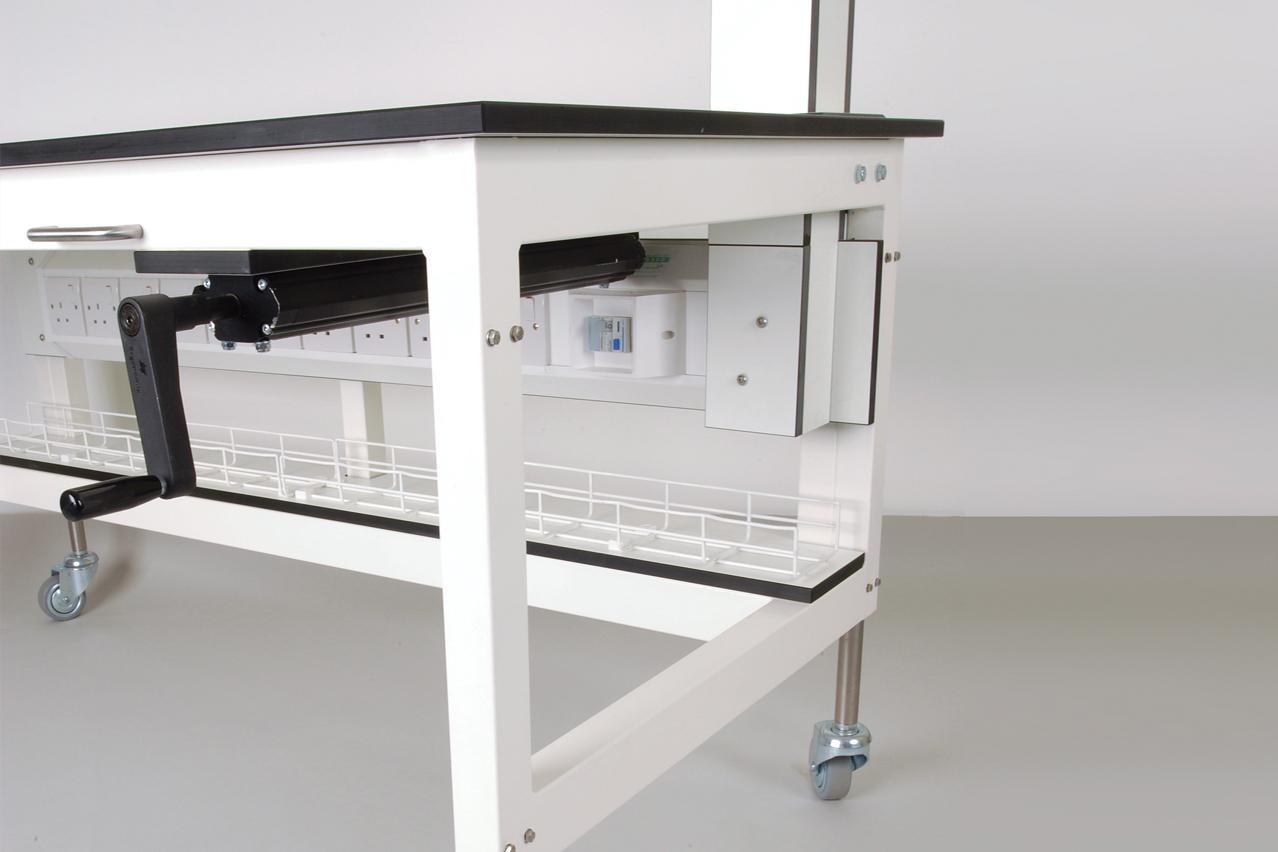W.E. Marson height adjustable laboratory furniture