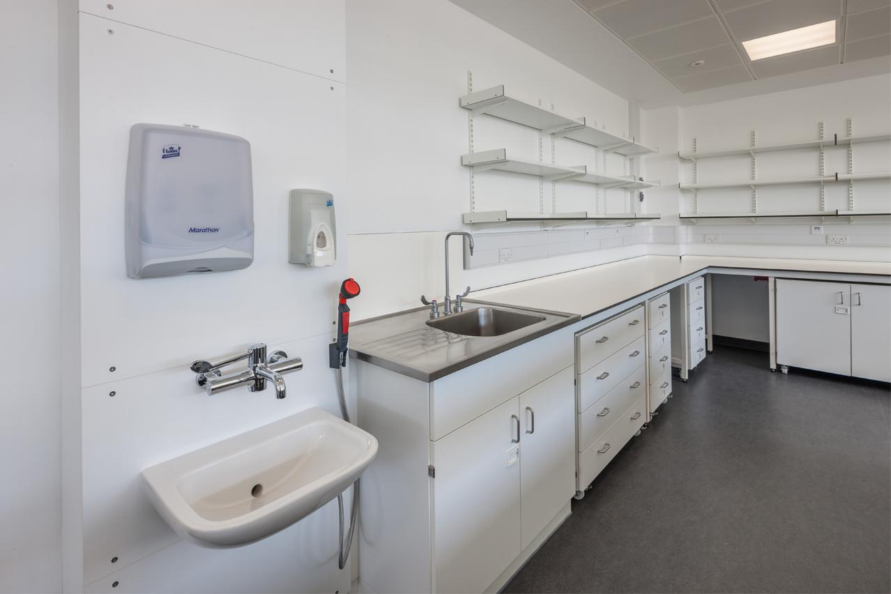 W.E. Marson laboratory safety station
