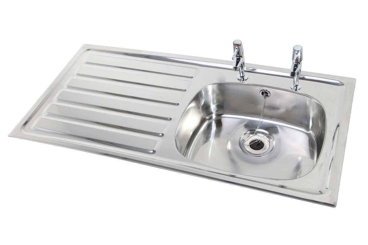 W.E. Marson stainless steel sink