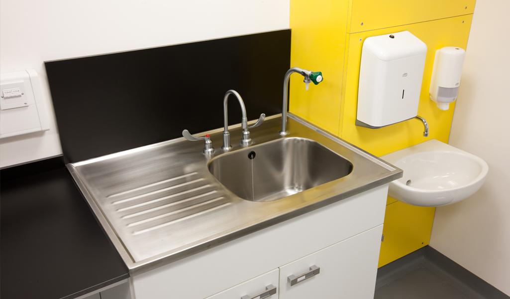 W.E. Marson wash station laboratory furniture
