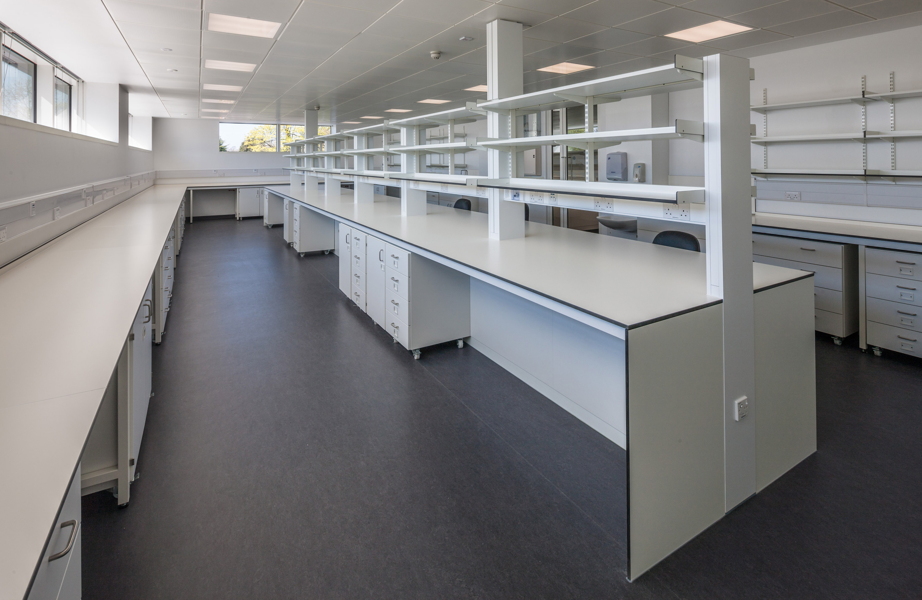 W.E. Marson fixed laboratory furniture