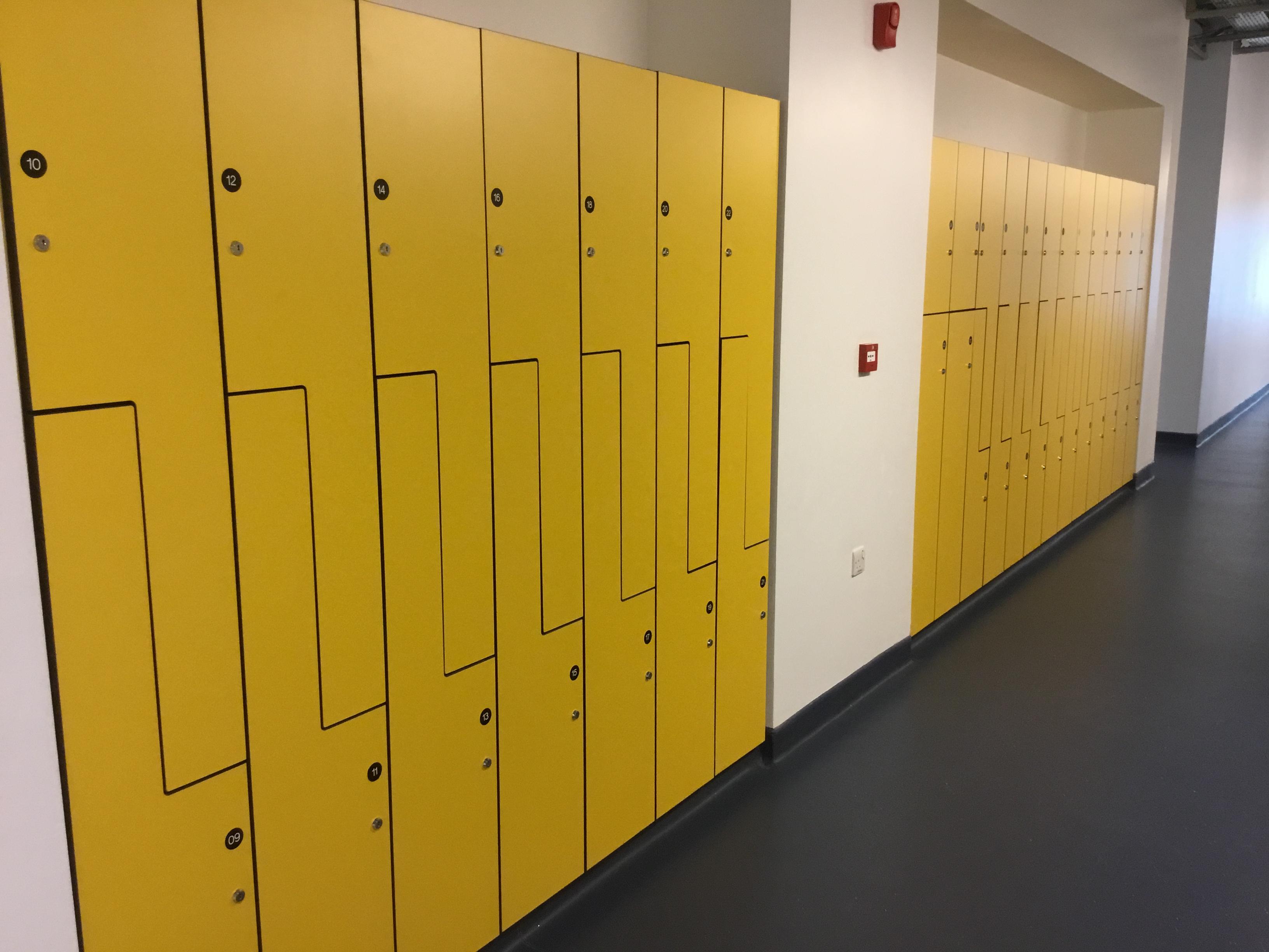 W.E. Marson Full locker room design