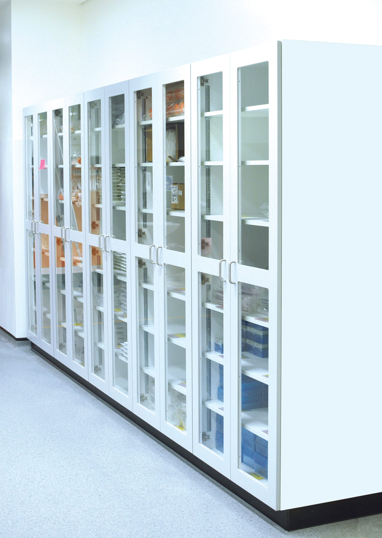 Fixed kanban consumable storage units